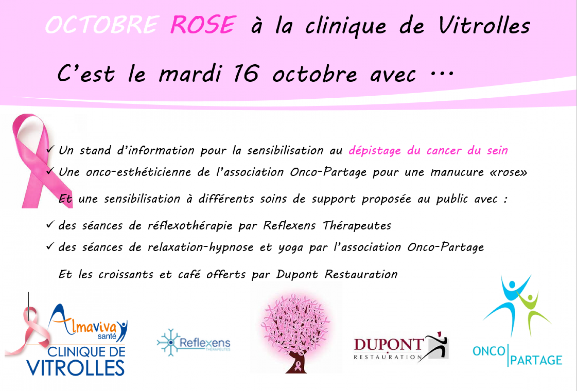 Octobre rose  2018 à la clinique
