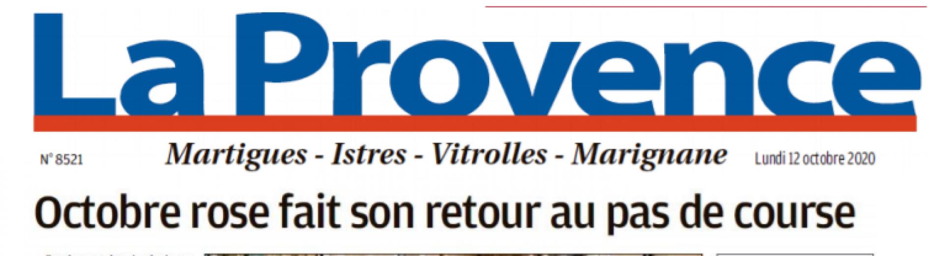 Octobre Rose : Le journal La Provence en parle